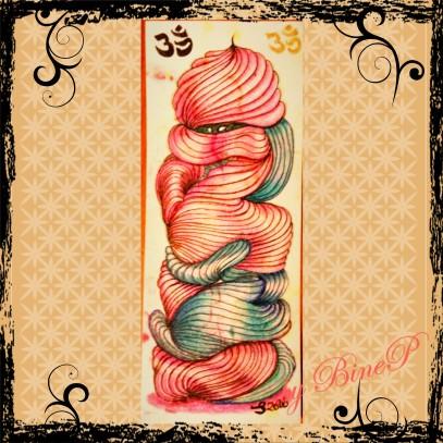 Micron Stift 01 und Prismacolor Farbstifte