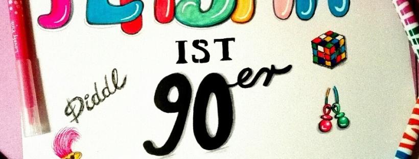 Plastik ist 90er, Plastik ist Kult. #handletteringchallenge