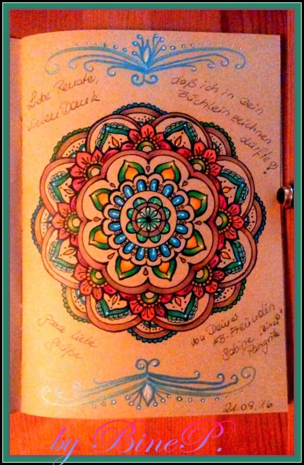 Mandala Türkis Braun Gold braun KraftPapier