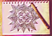 Rosenquarz Mandala