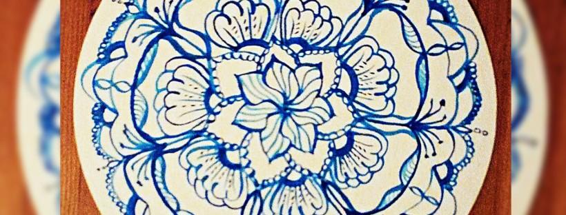 Zendala Mandala Blaues Muster