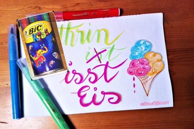 Neue Stifte BIC_Kids ausprobiert